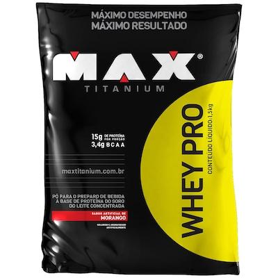 Whey Protein - 1,5 Kg - Sabor Morango - Max Titanium