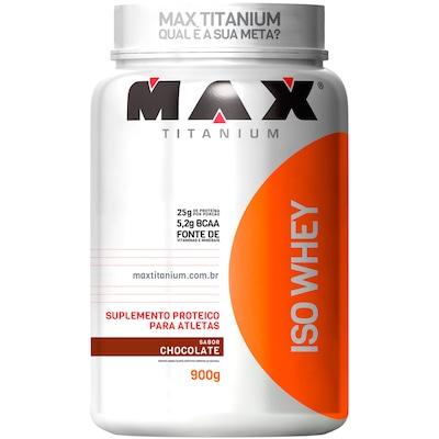 Whey Protein Isolado Max Titanium Iso Whey - Chocolate - 900g