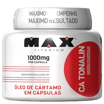 Óleo de Cártamo Tonalim - 120 Cápsulas - Max Titanium