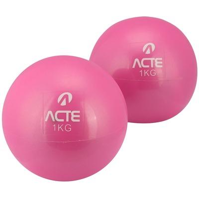 Bola de Peso Tonificadora Acte Sports - Kit com 2 Bolas 1Kg Cada