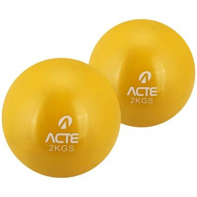 Bola de Peso Tonificadora Acte Sports - Kit com 2 Bolas 2Kg cada