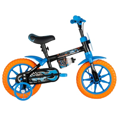 Bicicleta Caloi Hot Wheels - Aro 12 - Freio a Tambor - Infantil