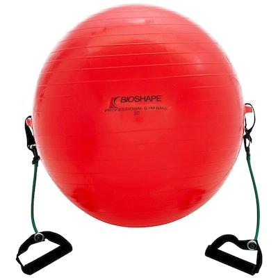 Bola de Pilates Bioshape com Extensor e DVD - 55 cm