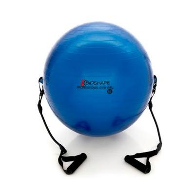 Bola de Pilates Suíça 65cm Bioshape com DVD de Treinamento Bola com Alças de Ivana Henn