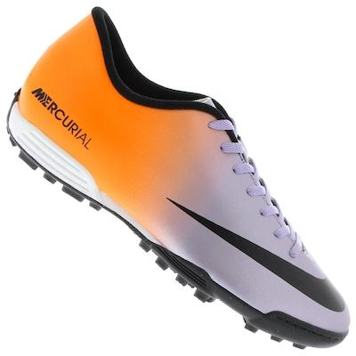 Chuteira Society Nike Mercurial Vortex TF - Adulto
