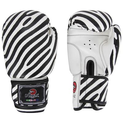 Luvas de Boxe Naja Zebra 14 OZ - Adulto