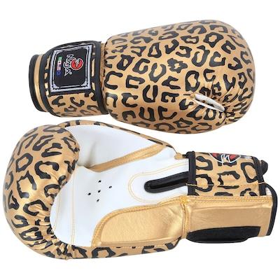 Kit de Boxe Naja Onça com Luva 14 OZ Bandagem e Protetor Bucal - Adulto