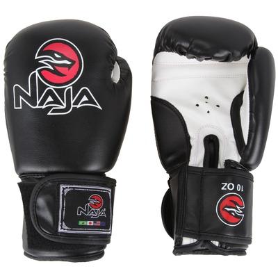 Kit de Boxe Naja Preto com Luva 10 OZ Bandagem e Protetor Bucal – Adulto