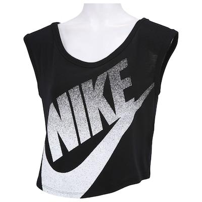Camiseta Regata Nike Sig Cropp - Feminina