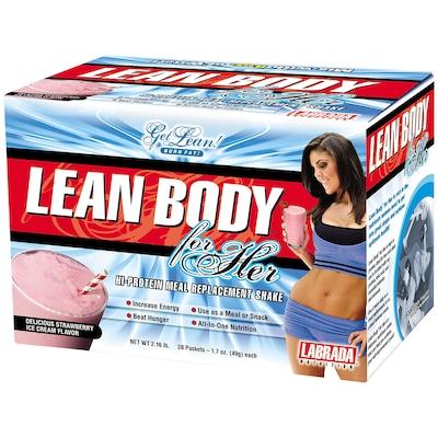 Shake Lean Body For Her– 20 Unidades – Morango – Labrada