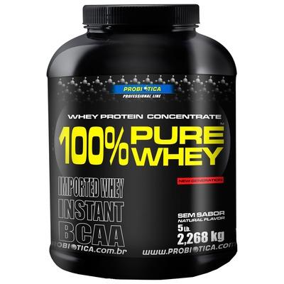 100% Pure Whey Protein 2, 268 Kg – Sem Sabor – Probiótica
