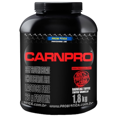 Proteína CarnPro - 1,8 Kg - Sabor Baunilha Toffee - Probiótica
