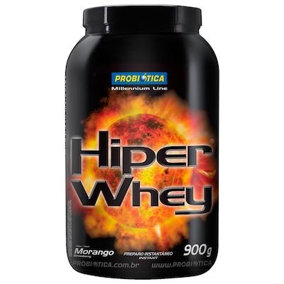Hiper Whey - 900 g -  Sabor Morango - Probiótica