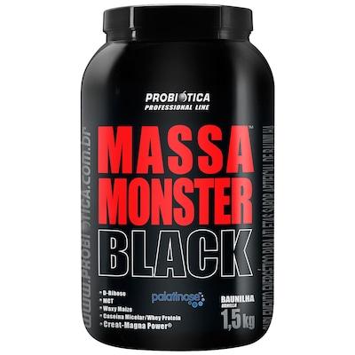 Hipercalórico Probiótica Massa Monster Black - Baunilha - 1,5Kg