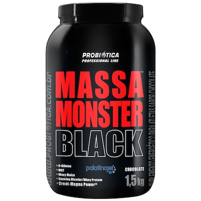 Hipercalórico Probiótica Massa Monster Black - Chocolate - 1,5 Kg