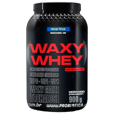 Whey Protein Probiótica Waxy Maize - Morango - 900g