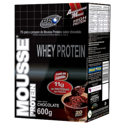 MOUSSE PROTEIN - 600 g - Chocolate - Probiótica