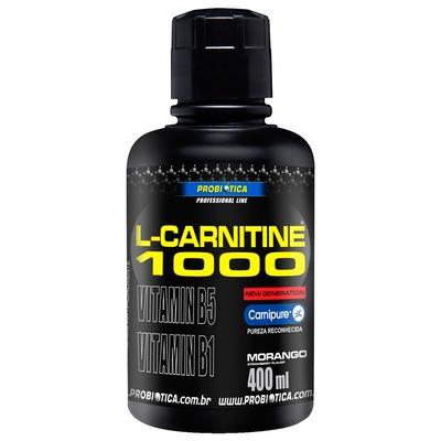 L-Carnitina Probiótica L-Carnitine 1000 - Morango - 400ml
