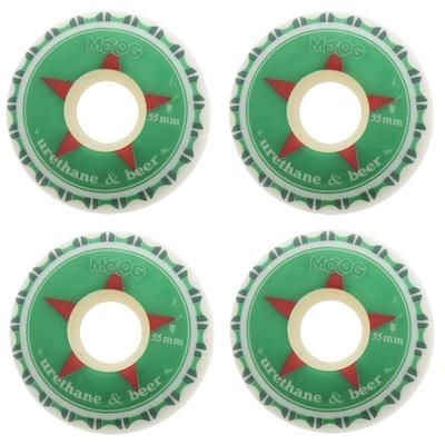 Rodas Moog Urethane Beer 55 mm Com 4 Unidades