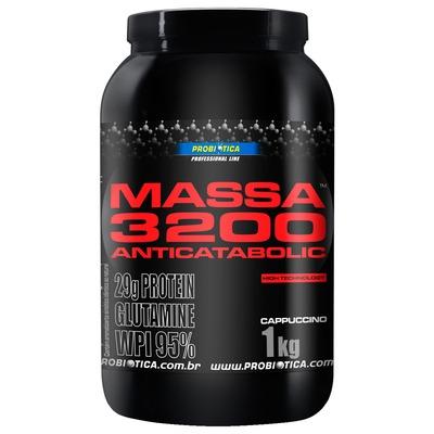 Massa 3200 Anticatabolic - 1 Kg - Sabor Cappuccino – Probiótica