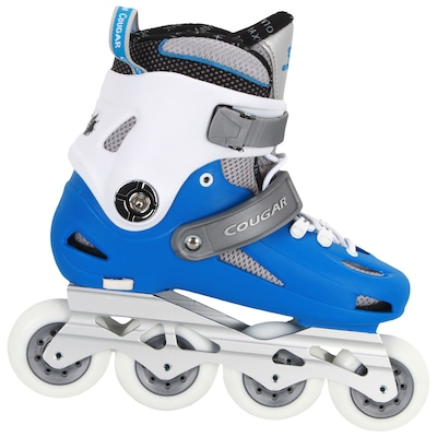 Patins Oxer Cougar MZS507 - In Line - Fitness - ABEC 9 - Base de Alumínio