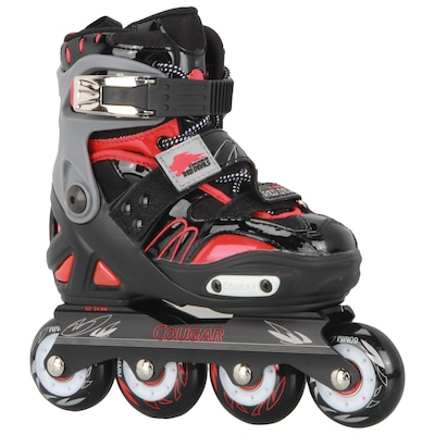 Patins Oxer Cougar Red Devils CR7 - In Line - Freestyle / Slalom - ABEC 7 - Ajustável