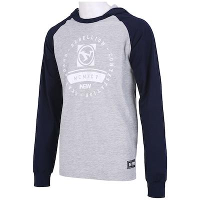 Camiseta Manga Longa New Skate Ess Com Capuz