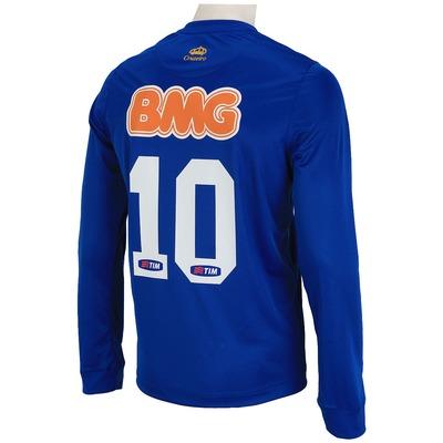Camisa do Cruzeiro Manga Longa I 2014  nº10 Olympikus