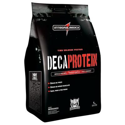 Whey Protein Integralmédica Deca Protein - Morango - 1Kg