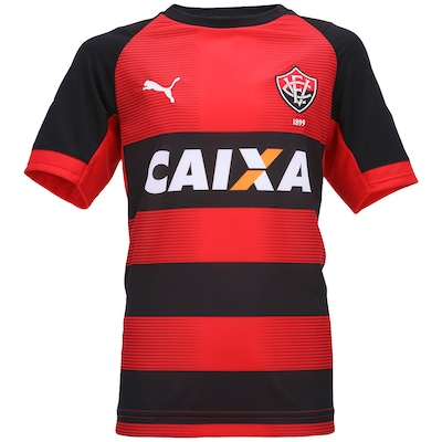 Camisa Puma Vitória I 2014 nº 10 - Infantil