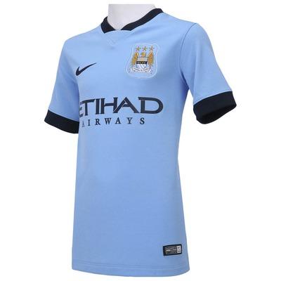 Camisa Nike Manchester City I 2014-2015 s/nº - Infantil