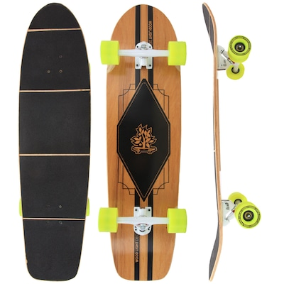 Longboard Wood Light Free Ride W108