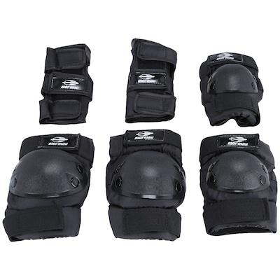 Kit de Proteção para Skate com Joelheira, Cotoveleira e Luvas Mormaii