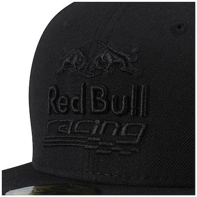 Boné Aba Reta New Era Red Bull Blackout Racing - Fechado - Adulto