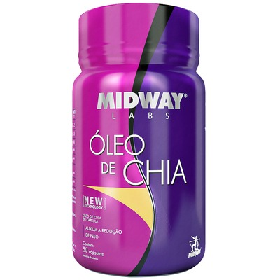 Óleo de Chia Midway - 50 Gel-Cápsulas