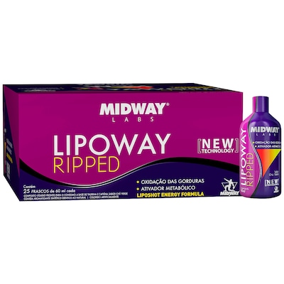 Lipoway Ripped - 25 Unidades 60 ml cada - Midway