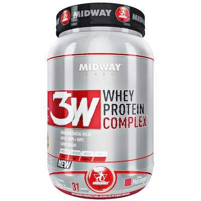 Whey Protein 3W Midway Complex - Morango - 930g