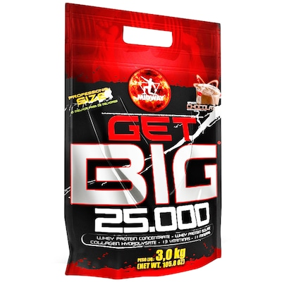 Hipercalórico Midway Get Big 25.000 - Chocolate - 3Kg