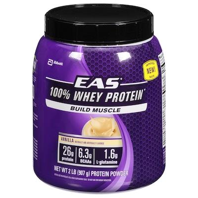 100% Whey Protein EAS Abbott Nutrition - Baunilha - 907g