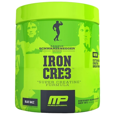 Creatina Muscle Pharm Arnold Iron Cre3 - 126g - Sabor Framboesa