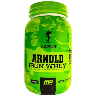 Whey Protein Muscle Pharm Arnold Iron Whey - Baunilha - 908g