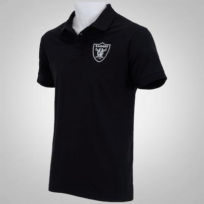 Camisa Polo New Era Basic Piquet Oakland Raiders - Masculina