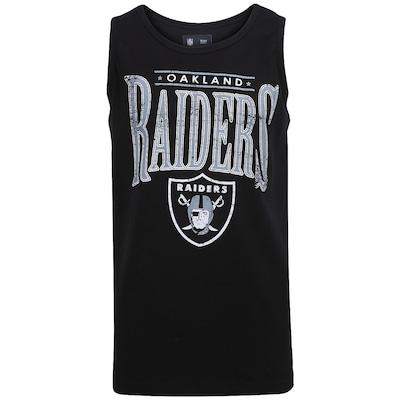 Camiseta Regata New Era Lett Logo Oakland Raiders - Masculina