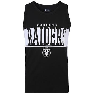 Camiseta Regata New Era Faixa Oakland Raiders - Masculina