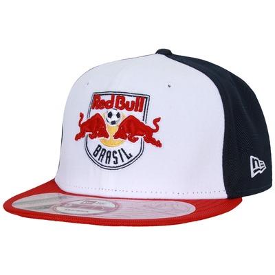 Boné aba reta New Era Red Bull Brasil Triple - Regulável