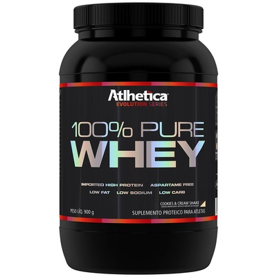 Whey Protein Atlhetica 100% Pure - Cookie e Cream - 900g