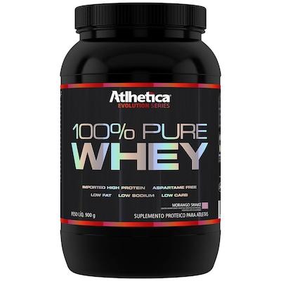 Whey Protein Athletica 100% Pure - Morango - 900g