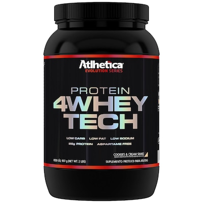 Whey Protein Atlhetica 4Whey Tech - Cookies e Cream - 907g