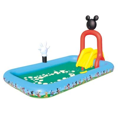 Piscina Interativa Inflável Bestway com Escorregador Mickey Mouse 436L