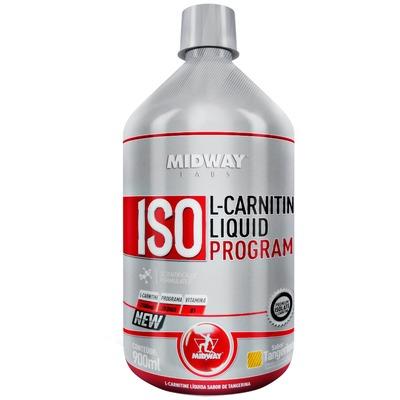 L-Carnitina Midway Iso L-Carnitine Liquid - Tangerina - 900ml